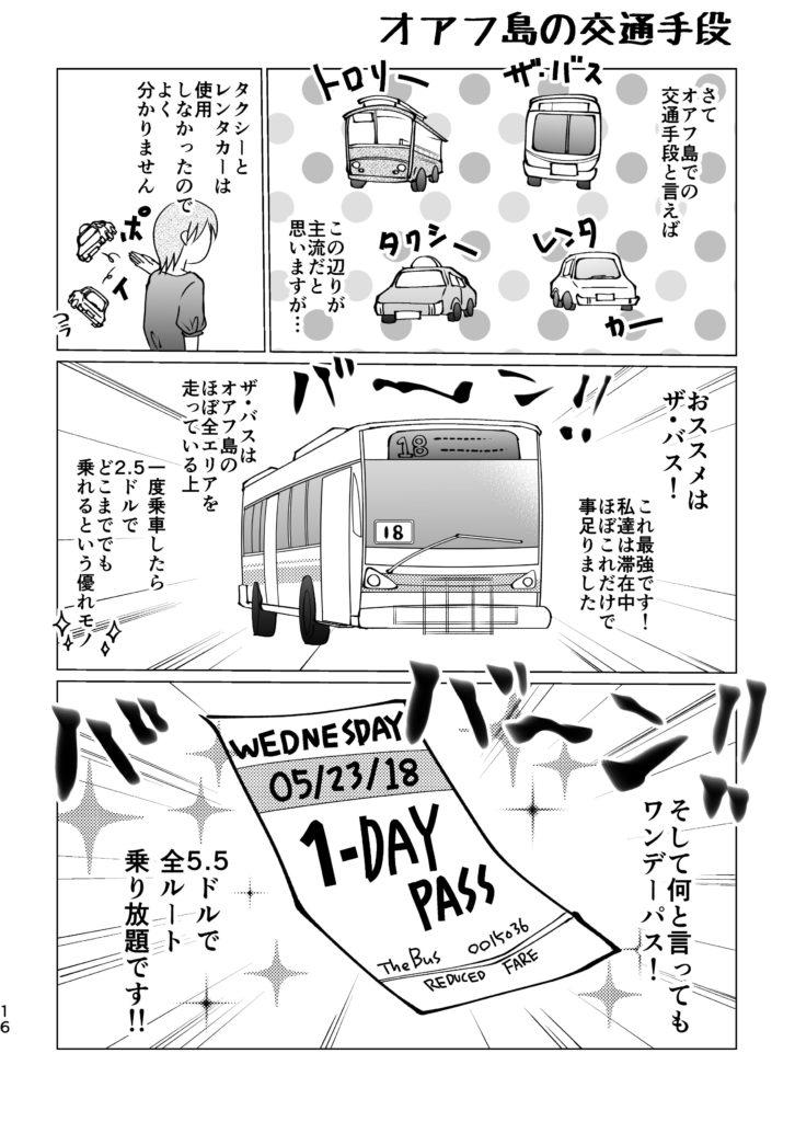オアフ島 交通手段 ザ・バス