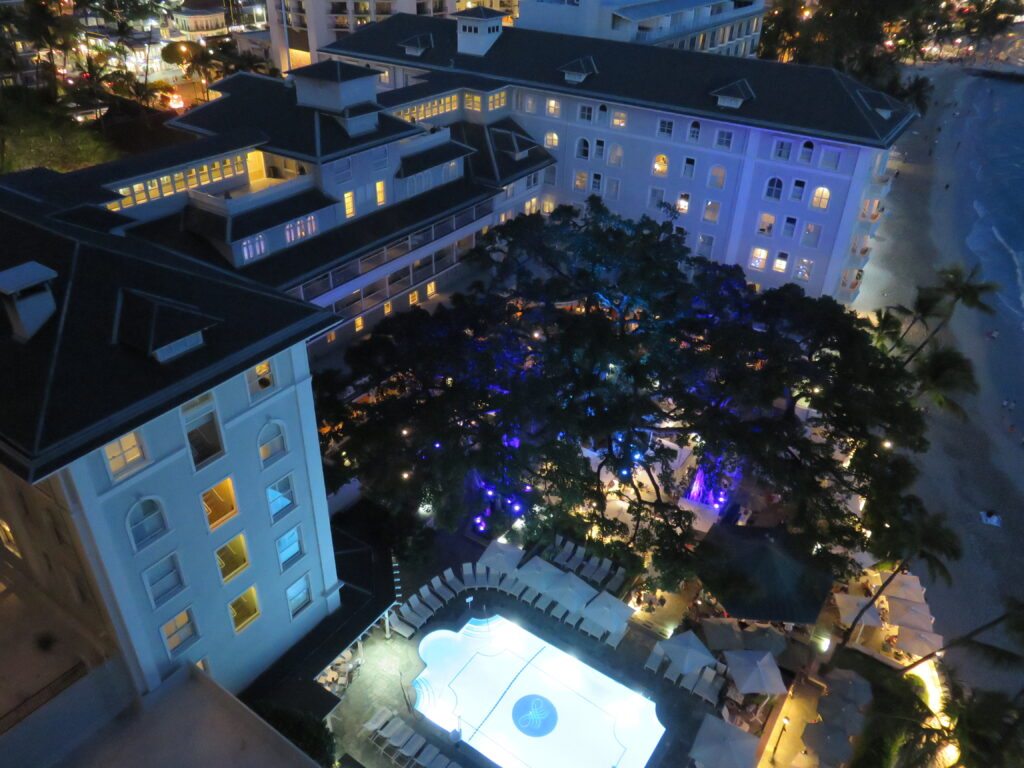 The garden of Moana Surfrider A Westin Resort and Spa