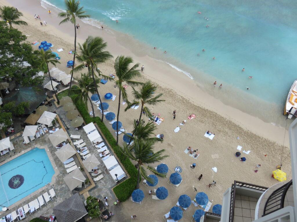 Waikiki beach view from Moana Surfrider