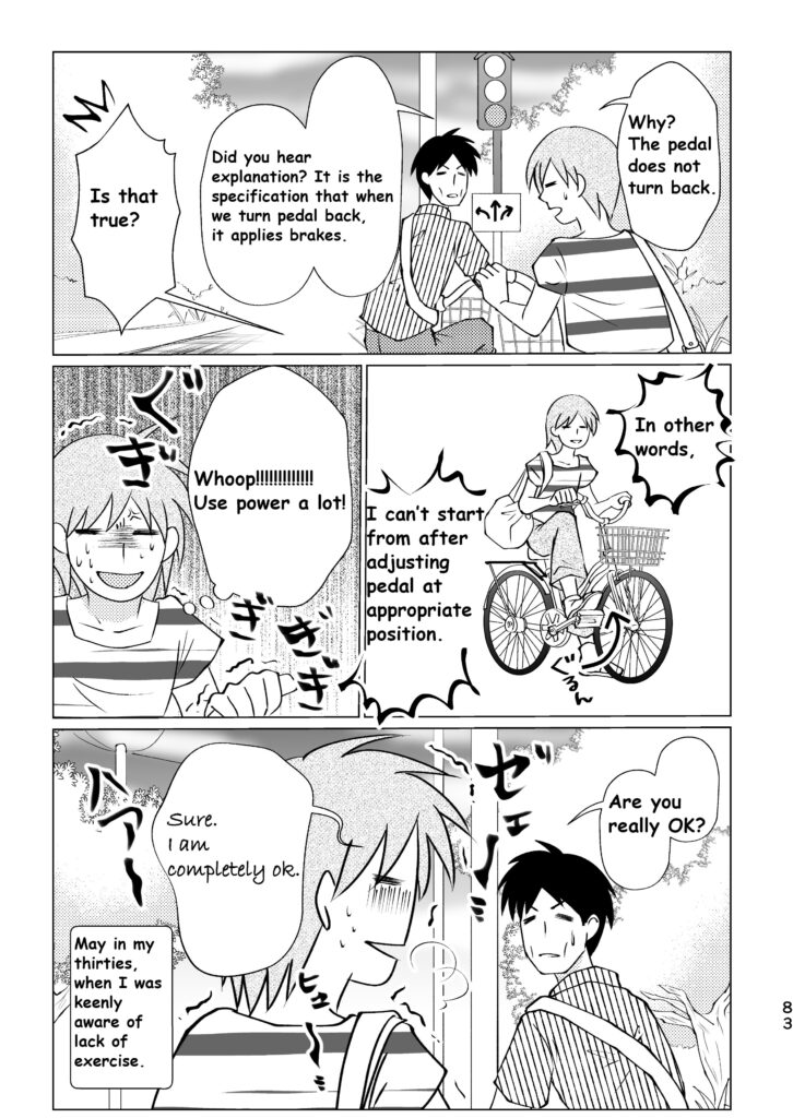 It was difficult to handle rent bicycle