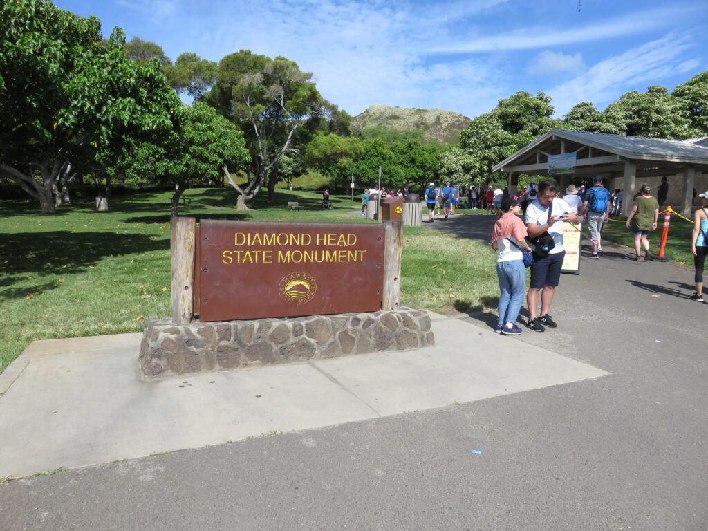 Diamond head state monument