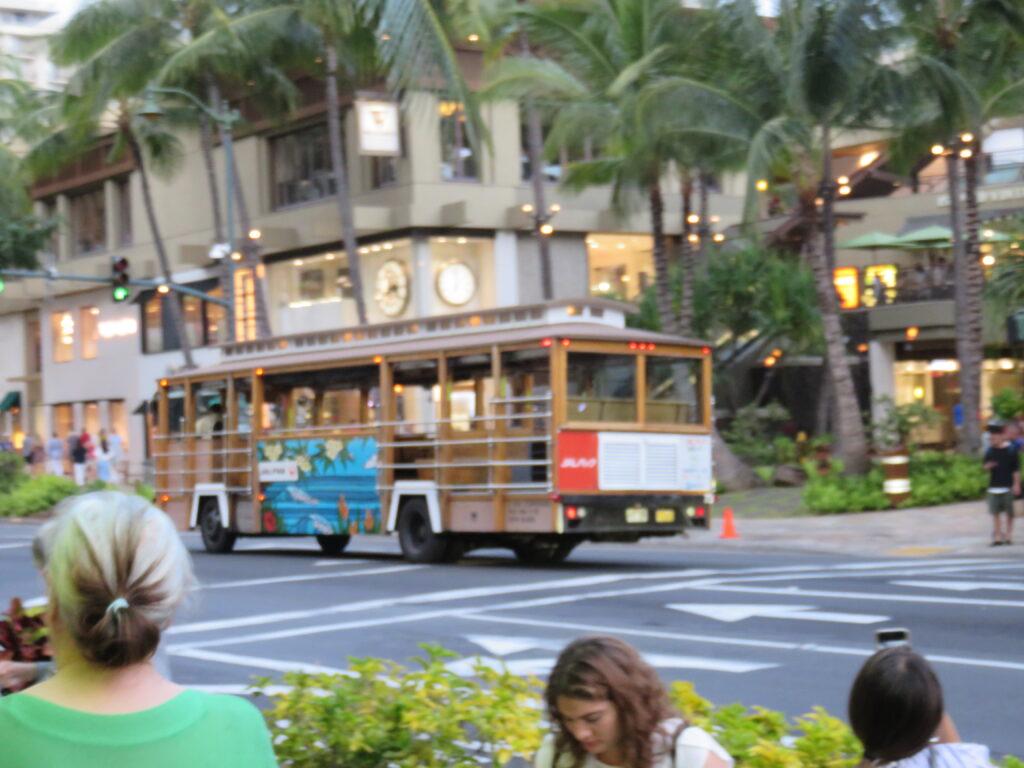 Trolley in Waikiki