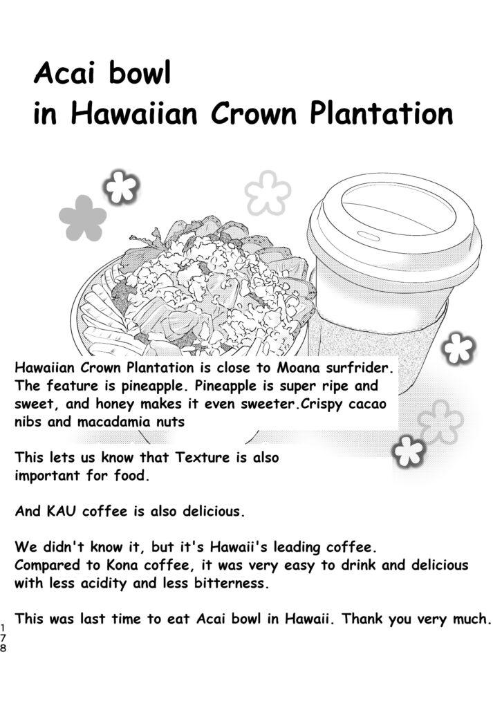 Acai bowl in Hawaiian Crown Plantation