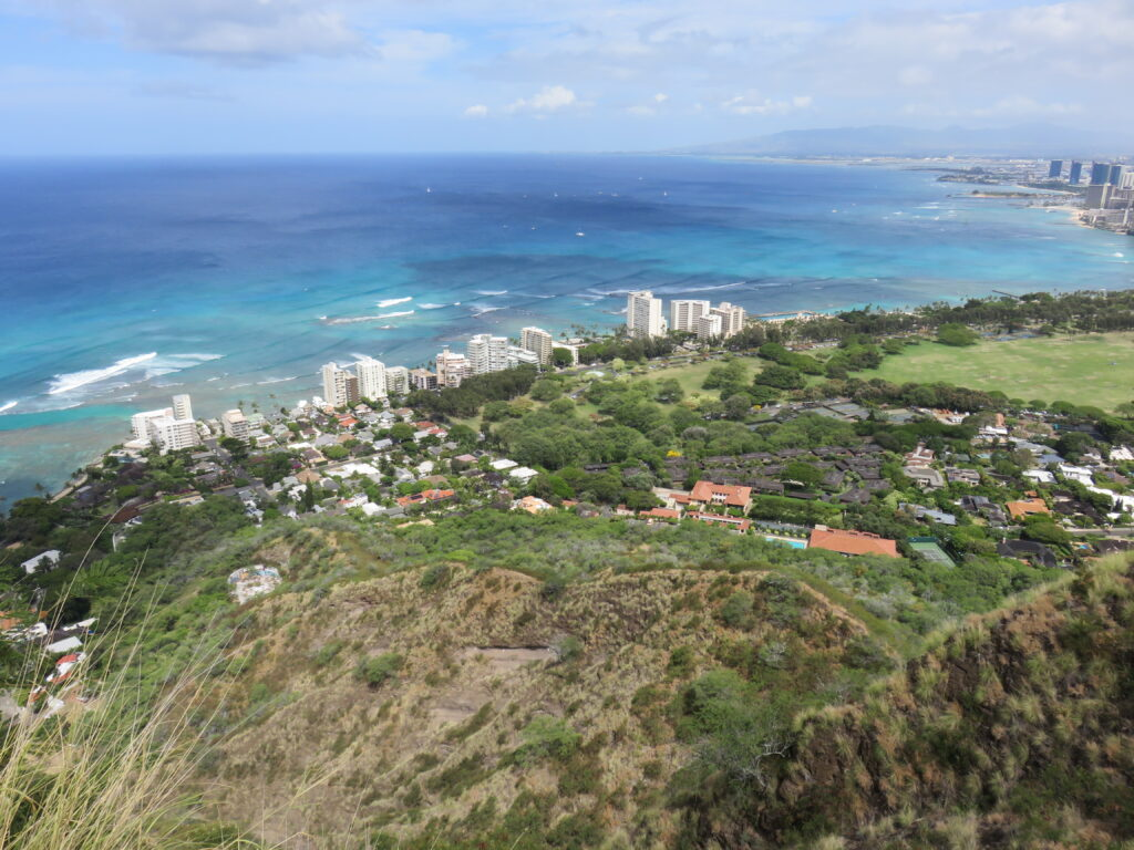 The view from top of the Diamond head